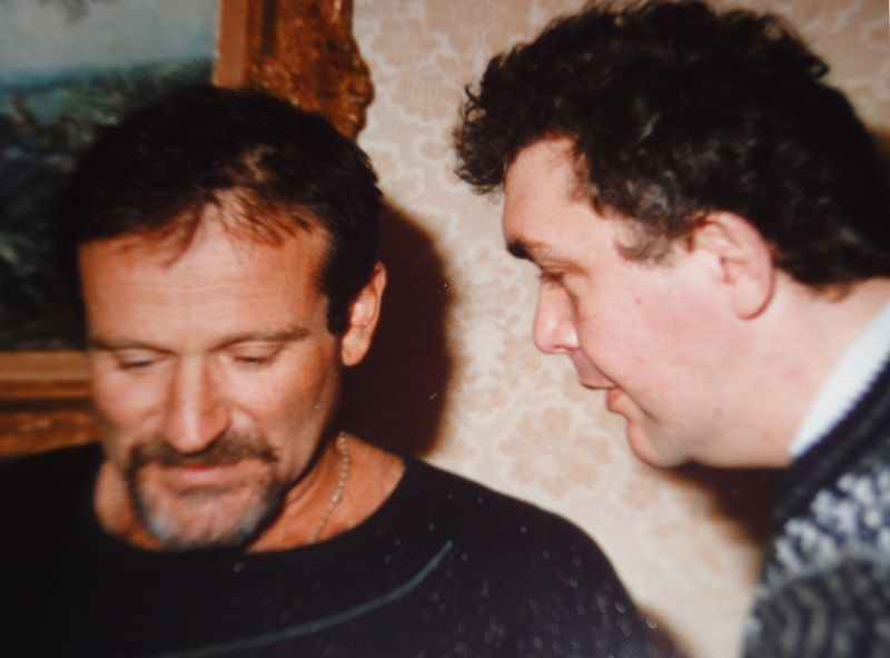 Jean Meurice avec Robin Williams
